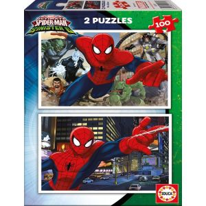PUZZLE 2X100 ULTIMATE SPIDER-MAN VS THE SINISTER 6