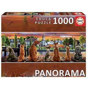 Puzzles educa 1000 piezas perros en el embarcadero panorama