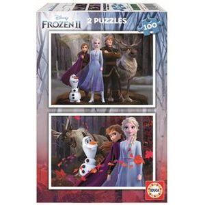 Puzzles 2 x 100 frozen 2