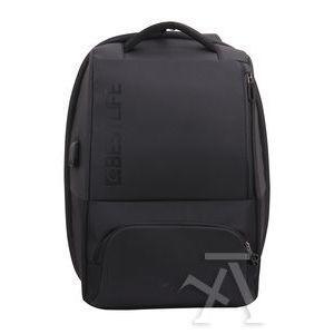 Mochila antirrobo para portatil 15.6' y tablet + conector usb 300x150x440mm negra