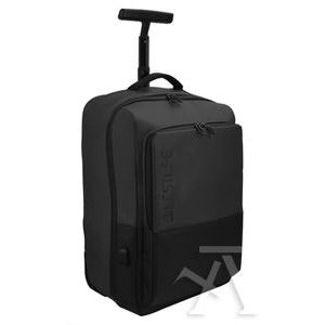 Mochila trolley para portatil 15.6' y tablet + conector usb 500X340X220MM negra