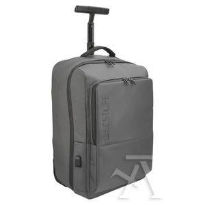 Mochila trolley para portatil 15.6' y tablet + conector usb 500x340x220mm gris