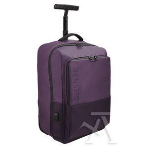 Mochila trolley para portatil 15.6' y tablet + conector usb 500x340x220mm burgundy