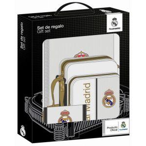 SET DE REGALO REAL MADRID 1ª EQUIPACION 28x35x6cm