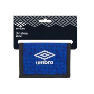 BILLETERA UMBRO BLACK & BLUE 12,5x9,5cm