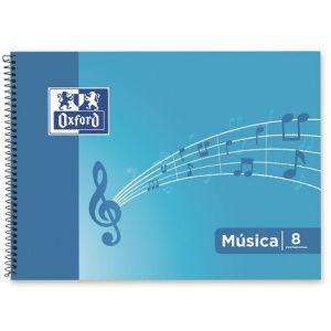 BLOC MUSICA 4º APAISADO 20H. 8 PENTAGRAMAS 2MM OXFOR