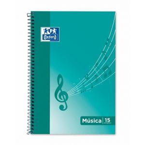 PAQ/10 BLOC MUSICA Fº 20H. 15 PENTAGRAMAS 2MM OXFOR
