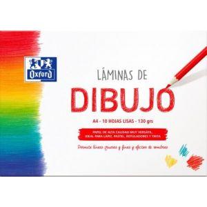 LAMINAS DIBUJO SOBRE LISO A4 10H 130G. OXFORD