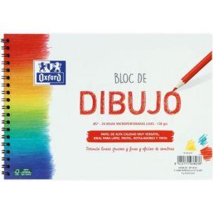 BLOC DIBUJO ESPIRAL LISO A5+ 20H 130G. OXFORD