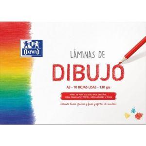 LAMINAS DIBUJO SOBRE LISO A3 10H 130G. OXFORD