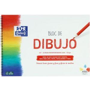 BLOC DIBUJO ESPIRAL LISO A3+ 20H 130G. OXFORD