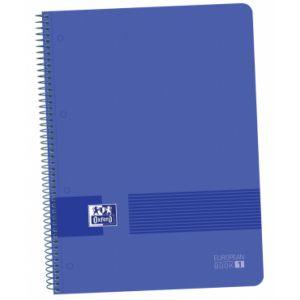 Paq/5 bloc A4+ 80hojas 90g. cuadricula 5x5 europeanbook1 color azul marino tapa de plastico