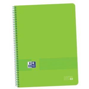 Paq/5 bloc A4+ 80hojas 90g. cuadricula 5x5 europeanbook1 color verde tapa de plastico