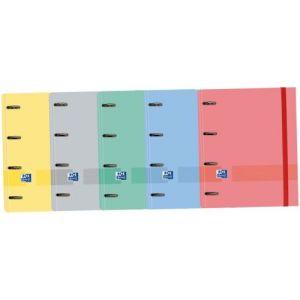 C/10 carpeta A4+ 4 anillas 35mm con recambios 5 colores surtidos oxford and you european binder