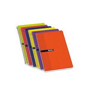 Paq/10 cuaderno espiral fº 80h 60gr pauta 3.5 tapa blanda