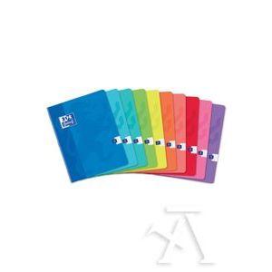 Paq/10 libretas a4 48h 90g. cuad.3x3x16 colores surtidos oxford classic