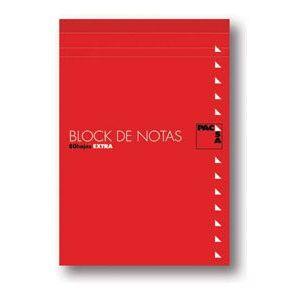 Paq/10 bloc notas con tapa 8º 80h 60gr 4x4