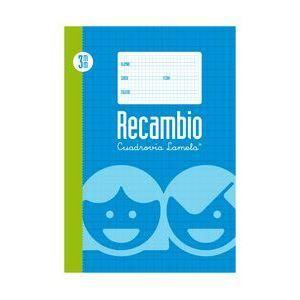 RECAMBIO Fº 100H 70G CUADROVIA 3MM 4 ANILLAS