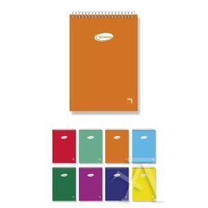 Paq/10 cuaderno espiral apaisado 16º 80h 60g. cuad.4x4 tapa carton pacsa