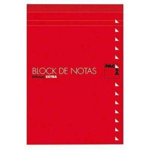 Paq/10 bloc de notas con tapa fº 80 h. liso