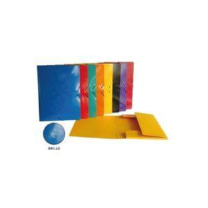 Exp 24 carpeta fº gomas y solapas cartón plastificado colores brillantes surtidos