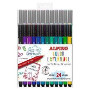 Estuche 24 rotuladores fineliners color experience colores surtidos
