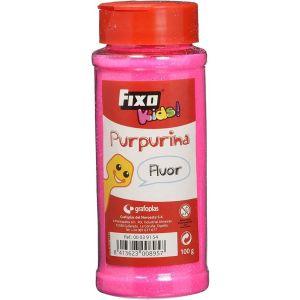 BOTE 100G. PURPURINA FINA FUCSIA FLUOR FIXO