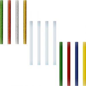 Blister 12 recambios barra silicona 7,5mm glitter