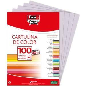 PAQ/25 CARTULINAS FIXO 50X65 180 G. GRIS PERLA