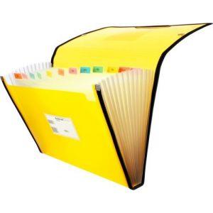 Carpeta fuelle fº amarillo polipropileno 13 departamentos con ribete