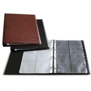 Tarjetero 4 anillas negro a4 executive capacidad 320 tarjetas 100x70mm