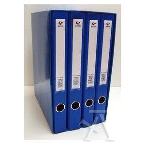 Modulo 4 archivadores fº 2 anillas 25mm carton forrado en pp grafcolor azul