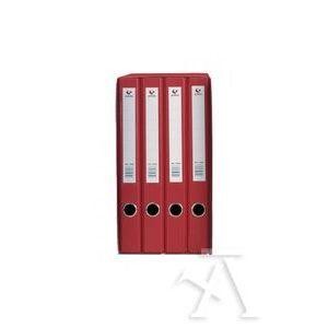 Modulo 4 archivadores fº 2 anillas 25mm cartón forrado en pp grafcolor rojo