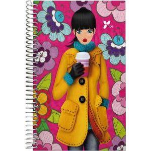 Cuaderno espiral a5 tapa dura 100h 5x5 noa12 cafe