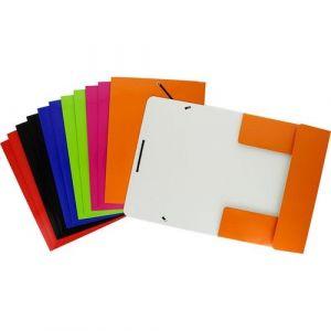 Paquete 12 carpeta de carton con gomas y solapas a4 color surtido