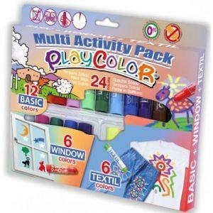 Estuche 24 playcolor multi activiti pack