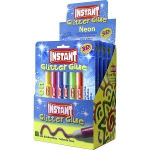 COLA INSTANT GLITTER NEON 10,5 ml BLISTER 6 colores