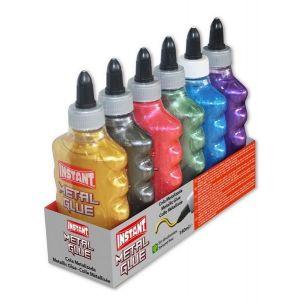 Cola metalizada color instant 180 ml surtido 6 uds