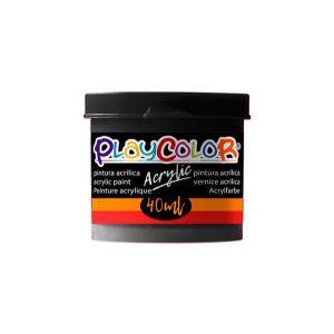 Pintura playcolor acrylic basic 40 ml negro 6 uds