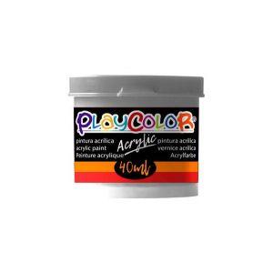Pintura playcolor acrylic metallic 40 ml plata 6 uds