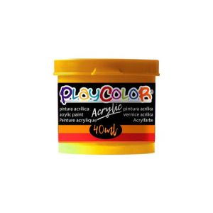 Pintura playcolor acrylic metallic 40 ml oro 6 uds