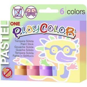 Estuche 6 colores playcolor one pastel 10g