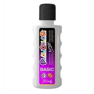 Pintura playcolor acrylic basic 250 ml blanco