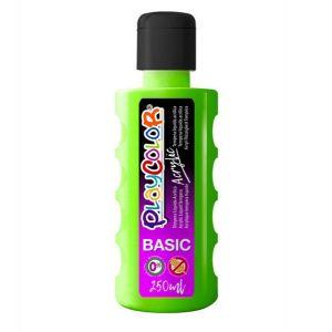 Pintura playcolor acrylic basic 250 ml verde claro
