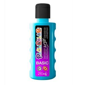 Pintura playcolor acrylic basic 250 ml azul claro