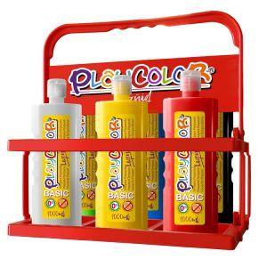 Exp 6 tempera liquida playcolor 500ml. colores surtidos con dosificador