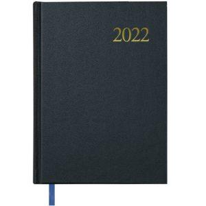 Agenda anual 2022 dia a dia sábado y domingo 12x20cm segovia color negro