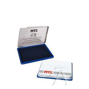 Tampon metalico nº2 azul almohadilla 109x70mm mtl