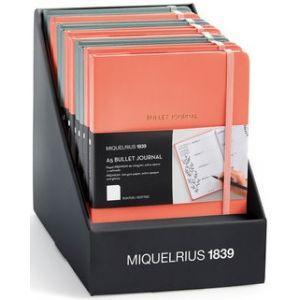 Exp 12 cuadernos bullet journal a5 96h 100g interior puntos y cierre con goma