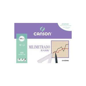 Bolsa mini-pk 12 hojas papel milimetrado a4 100grs